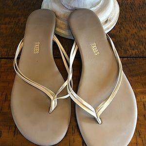 Tkees women's flip flop duo sandals in oyster